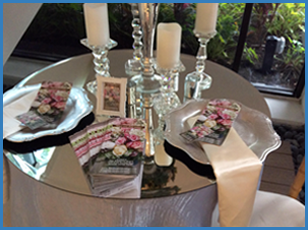 Ideas with Mirror Beveled Table Topper