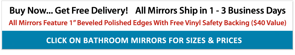 Frameless Mirror Sale