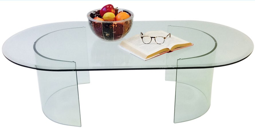 581 SEE GLASS COCKTAIL TABLE BASE ONLY (Set of 2)