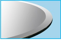 """48"""" Round Glass Top 1/2"""" Thick - 1"""" Bevel Edge"""