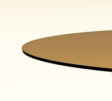 "18"" Round Bronze Glass Top 1/2"" Thick - Flat Polish Edge"