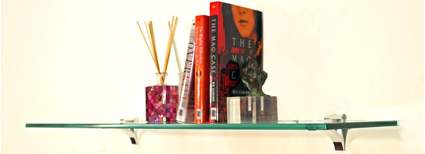 Cardinal Floating Glass Shelves - 2 Brackets Included with Each Shelf