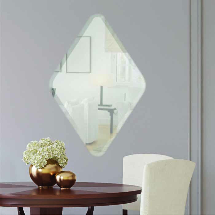 Diamond Frameless Mirror