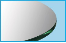 """34"""" Square Glass Top 1/2"""" Thick - Flat Polish Edge With Touch Corners"""