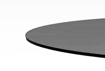 "18"" Round Grey Glass Top 1/2"" Thick - Flat Polish Edge"
