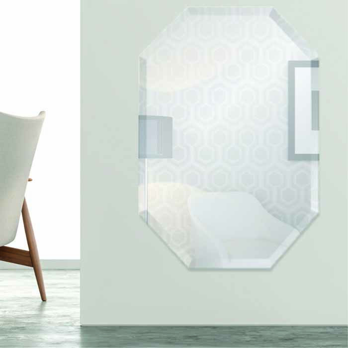 Octagon Frameless Mirror