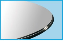 "28"" Round Glass Top 1/2"" Thick - Ogee Edge"