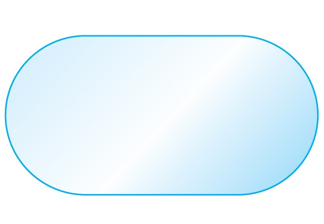 28 Quot X 54 Quot Racetrack Oval Glass Tops By Glass Tops Direct