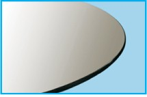 "48"" Round Glass Top 3/8"" Thick - Pencil Edge"