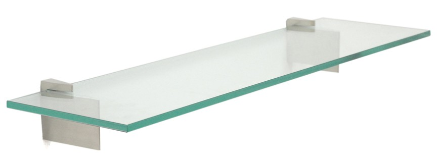 Raven Bathroom Glass Shelves - 2 Brackets Included with Each Shelf