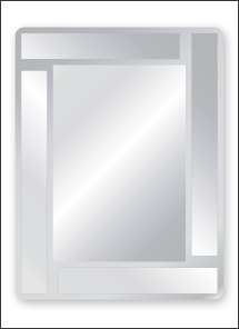 "20"" x 30"" Rectangle Overlay Mirror"