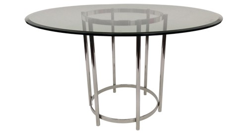 "Ringo Dining Table - 54"" Round Glass Table Top"