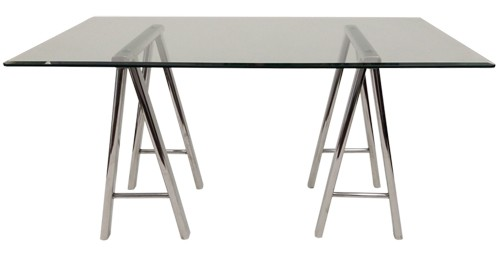 "Saw Horse Dining Table - 48"" x 84"" Rectangle"