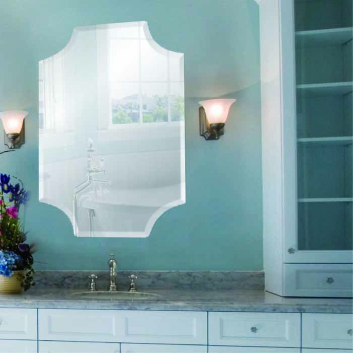 Long Scallop Frameless Mirrors
