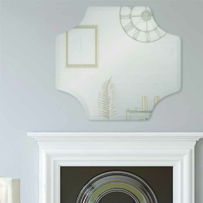 Scallop Frameless Mirror