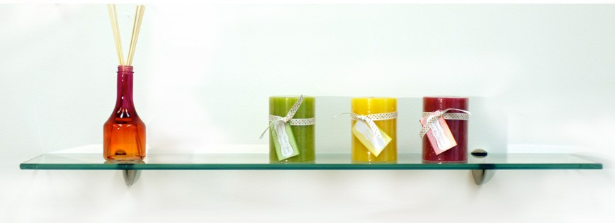Starling Floating Glass Shelves - 2 Brackets Included with Each Shelf