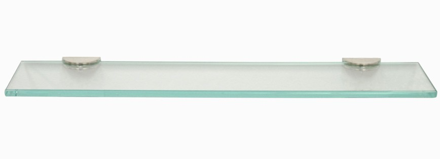 Straight Glass Shower Shelf With 2 Quot Half Round Clamps