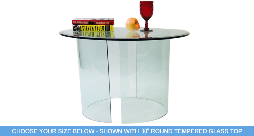 "592 See End Table - Includes 1/2"" Thick Tempered Glass With 1"" Bevel Edge"