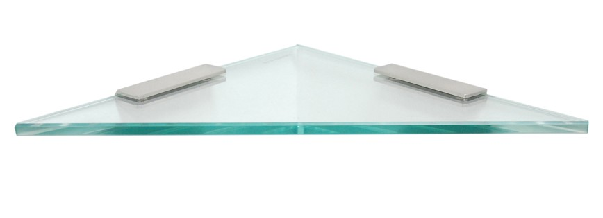 "Triangle Bathroom Shelf with 4"" Rectangle Clamps"