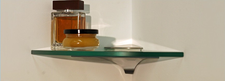 "12"" Qtr Wren Corner Glass Shelf"