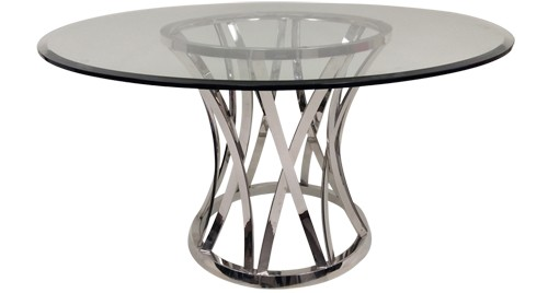 "Xena Dining Table - 54"" Round Glass Table Top"