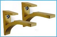 Brushed Bronze cardinal bracket