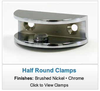 Half Round Shower Shelf Clamp