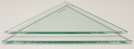 Triangle Glass Corner Shelf Only - No Brackets
